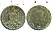 Изображение Дешевые монеты Испания 1 песета 1966 Латунь-сталь XF