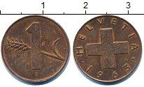 Изображение Дешевые монеты Швейцария 1 рапп 1963 Медь XF