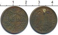 Изображение Дешевые монеты Испания 1 песета 1944 Латунь VF