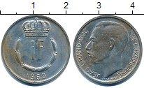 Изображение Дешевые монеты Люксембург 1 франк 1968 Медно-никель VF