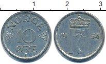 Изображение Барахолка Норвегия 10 эре 1954 Медно-никель XF-
