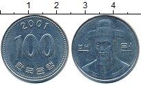 Изображение Дешевые монеты Южная Корея 100 вон 2001 Медно-никель XF