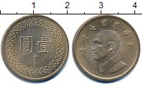 Изображение Дешевые монеты Тайвань 1 юань 1981 Латунь XF