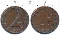 Изображение Дешевые монеты Австрия 2 гроша 1937 Медь XF-