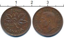 Изображение Дешевые монеты Канада 1 цент 1952 Медь XF-