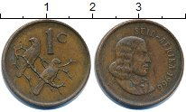 Изображение Дешевые монеты ЮАР 1 цент 1966 Медь VF