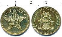 Изображение Барахолка Багамские острова 1 цент 1977 Латунь XF