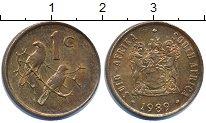 Изображение Дешевые монеты ЮАР 1 цент 1989 Медь XF-