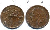 Изображение Дешевые монеты Бельгия 20 сентим 1959 Медь XF-