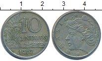 Изображение Дешевые монеты Бразилия 10 сентаво 1967 Медно-никель XF-