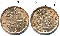 Изображение Дешевые монеты ЮАР 10 центов 1995 Бронза XF