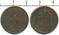 Изображение Дешевые монеты Испания 1 песета 1944 Латунь VF+