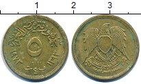Изображение Дешевые монеты Египет 5 пиастров 1973 Бронза VF