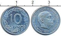Изображение Дешевые монеты Испания 10 сентим 1939 Медно-никель VF