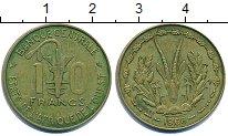 Изображение Барахолка Западная Африка 10 франков 1968 Латунь XF-