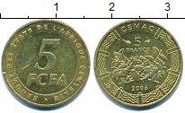Изображение Барахолка Центральная Африка 5 франков 2006 Латунь XF