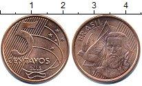 Изображение Дешевые монеты Бразилия 5 сентаво 2013 сталь с медным покрытием UNC-