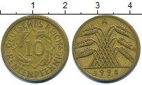 Изображение Барахолка Германия 10 пфеннигов 1924 Латунь VF+