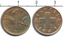 Изображение Дешевые монеты Швейцария 1 рапп 1948 Медь XF