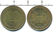 Изображение Барахолка Центральная Африка 10 франков 2006 Латунь VF+