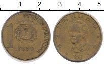 Изображение Дешевые монеты Доминиканская республика 1 песо 1992 Латунь VF+