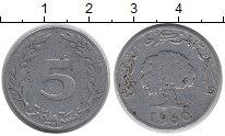 Изображение Дешевые монеты Тунис 5 миллим 1960 Алюминий VF-