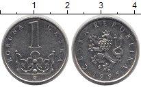 Изображение Дешевые монеты Чехия 1 крона 1995 Медно-никель XF-