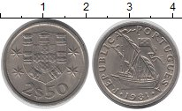 Изображение Дешевые монеты Португалия 2 1/2 сентима 1981 Медно-никель XF
