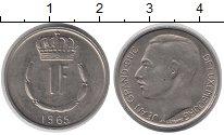 Изображение Дешевые монеты Люксембург 1 франк 1965 Медно-никель XF-