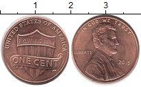Изображение Барахолка США 1 цент 2015 Бронза XF