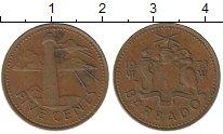 Изображение Барахолка Барбадос 5 центов 1973 Бронза VF