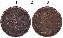 Изображение Дешевые монеты Канада 1 цент 1977 Бронза VF-