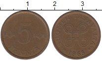 Изображение Дешевые монеты Финляндия 5 пенни 1965 Бронза VF