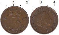 Изображение Барахолка Нидерланды 5 центов 1965 Медь XF-