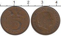 Изображение Дешевые монеты Нидерланды 5 центов 1965 Бронза VF