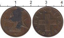 Изображение Дешевые монеты Швейцария 2 раппа 1948 Бронза VG