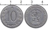 Изображение Барахолка Чехословакия 10 хеллеров 1969 Алюминий VF