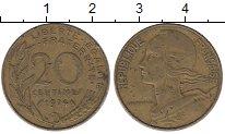 Изображение Дешевые монеты Франция 20 сентим 1974 Латунь VF-