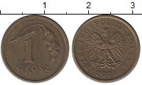 Изображение Дешевые монеты Польша 1 грош 2005 Латунь XF