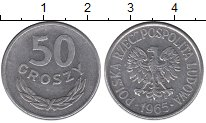 Изображение Барахолка Польша 50 грошей 1965 Алюминий XF