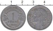 Изображение Барахолка Франция 1 франк 1943 Алюминий XF-