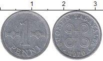 Изображение Дешевые монеты Финляндия 1 пенни 1970 Алюминий VF