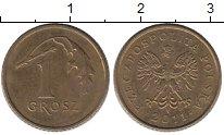 Изображение Дешевые монеты Польша 1 грош 2011 Латунь XF-
