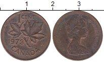 Изображение Дешевые монеты Канада 1 цент 1973 Бронза VF-
