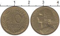 Изображение Дешевые монеты Франция 10 сентим 1980 Латунь XF