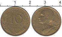 Изображение Дешевые монеты Франция 10 сентим 1967 Бронза VF+