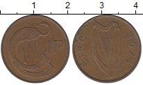 Изображение Барахолка Ирландия 1 пенни 1974 Медь XF-