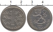 Изображение Дешевые монеты Финляндия 1 марка 1989 Медно-никель XF
