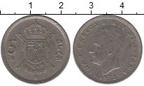 Изображение Дешевые монеты Испания 5 песет 1978 Медно-никель VF+