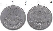 Изображение Барахолка Польша 20 грошей 1967 Алюминий VF